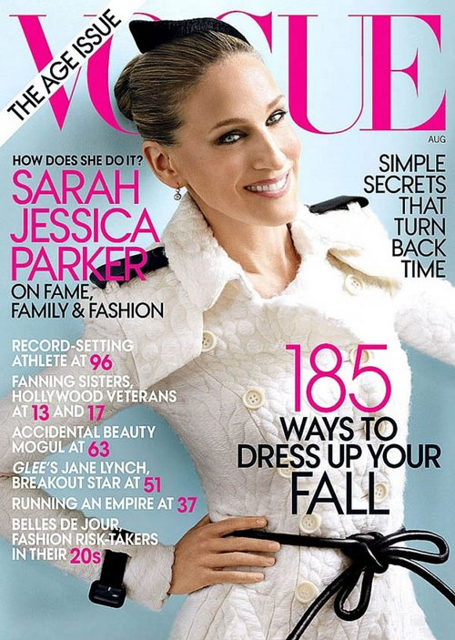 Sarah Jessica Parker Cover August Vogue Ageless Issue